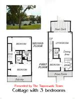 Floorplan of the Cottage with 3 bedrooms at key west golf club