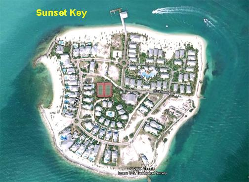 Sunset Key in Key West Harbor Florida